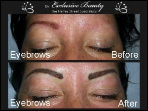 Semi Permanent Make Up - Before and After - Eyebrows 2